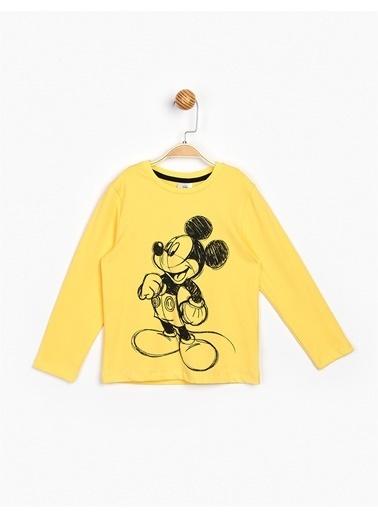 Mickey Mouse Tişört Sarı